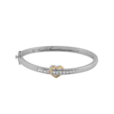 CZ Collections Heart Cubic Zirconia Bangle