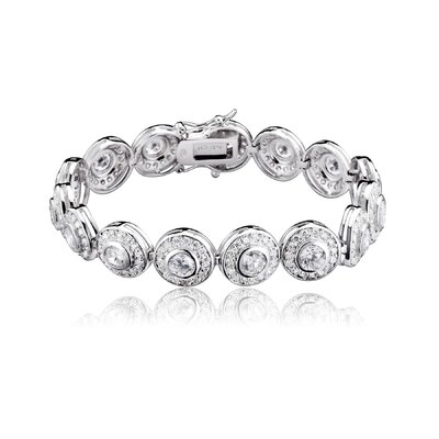 CZ Collections Fine Cubic Zirconia Bracelet