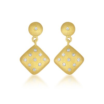 CZ Collections Square Cubic Zirconia Earrings