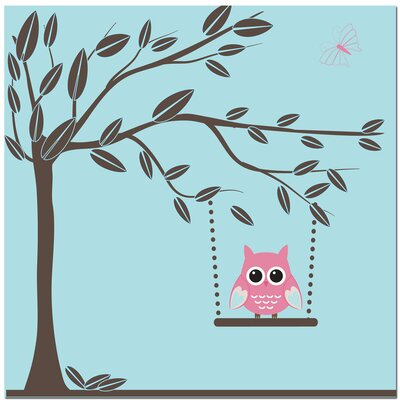 Swinging Owl Art Print