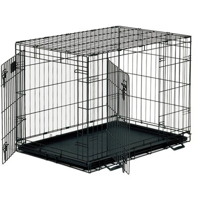 Timeless Crates Foldable 2 Door Dog Crate with Divider