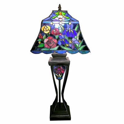 Warehouse of Tiffany Floral Table Lamp with Lighted Base