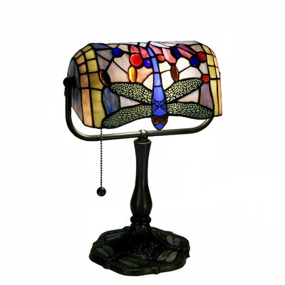 Warehouse of Tiffany Dragonfly Banker Table Lamp