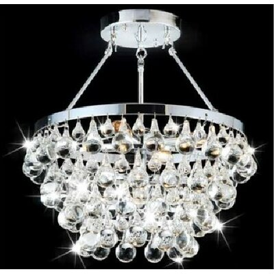 Grand 5 Light Crystal Chandelier