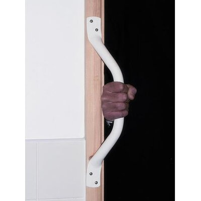 AKW Cranked Grab Bar in White / Brown