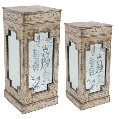 Pedestal Plant Stand (Set of 2)