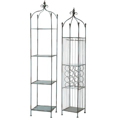A&B Home Group, Inc 20 Bottle Hanging Wine Rack (Set of 2)