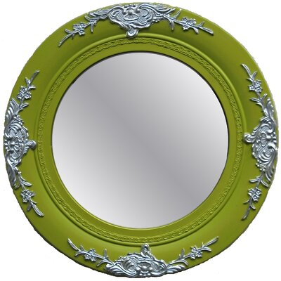 Imagination Mirrors Seema Round Framed Mirror in Light Green