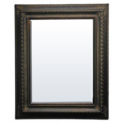 Elizabeth Regina Small Wall Mirror in Mahogany Gold