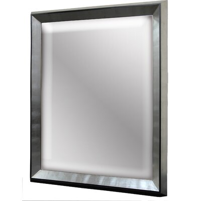 Elite Vanguard Wall Mirror in Sterling Silver