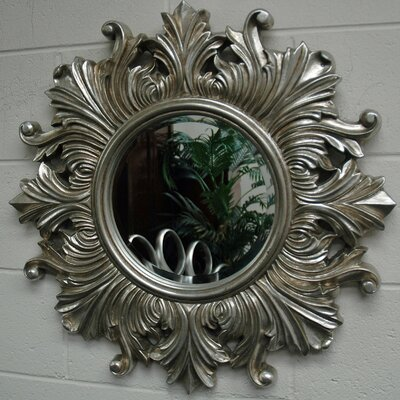 Ariel Round Traditional Framed Mirror