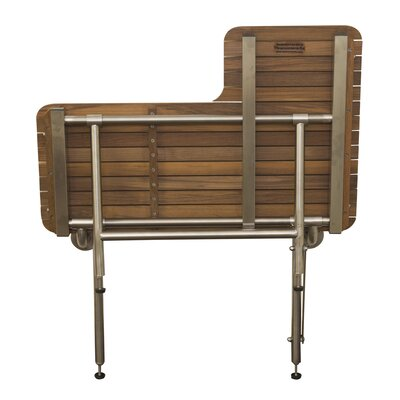 Teakworks4u Teak Wall Mount Transfer Bench