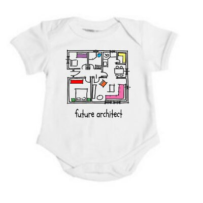 Spunky Stork Future Architect Organic One Piece
