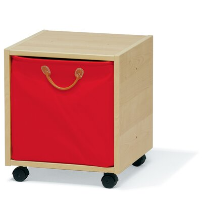 Lazzari Wooden Cube with Red Drawer