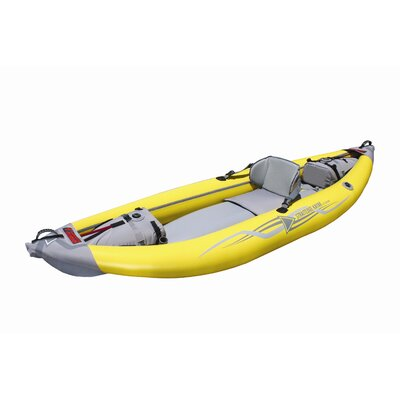 Advanced Elements Straitedge Inflatable Kayak in Yellow and Gray