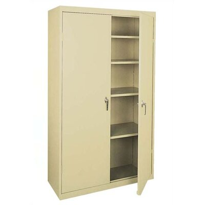 Sandusky Cabinets Valueline Mobile Storage Cabinet with Four Fixed Shelves