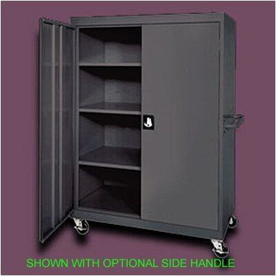 Sandusky Cabinets Transport Four Shelf Extra Large Mobile Storage - 65&quot; x 46&quot; x 24&quot;