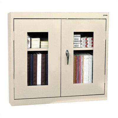Sandusky Cabinets Clear View Double Door Wall Cabinet