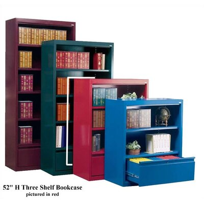 "Sandusky Cabinets 52"" H Three Shelf Bookcase with File Drawer"