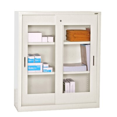 Sandusky Cabinets Storage Cabinets with Sliding Door Clear View