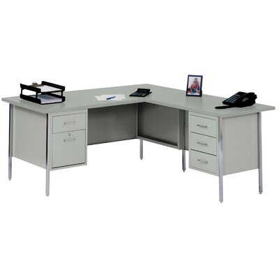 "Sandusky Cabinets 42"" W L-Shaped Executive Desk with Right Return"