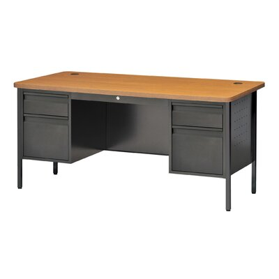 Sandusky Cabinets Steel Teachers Desk with Pierced Side Panels