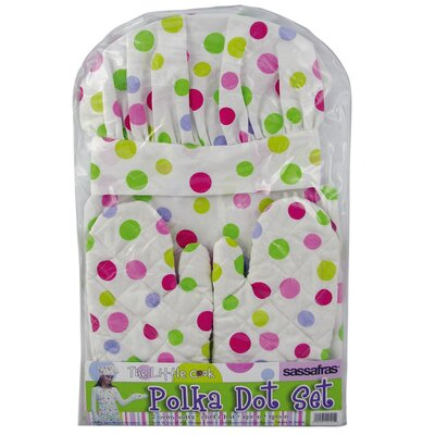 Kid's Polka Dots Apron Set