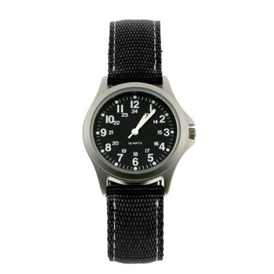 RAM Instrument Rugged Military Field Watch with Black Face
