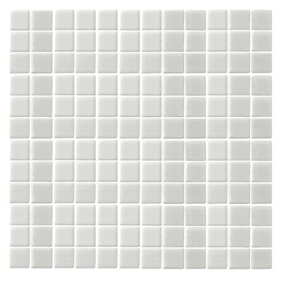 "Epoch Architectural Surfaces Monoz Honed 12"" x 12"" Recycled Glass Mosaic in White"