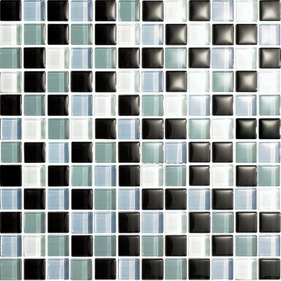 "Epoch Architectural Surfaces Color Blends Joven 1"" x 1"" Glossy Glass Mosaic in Multi"
