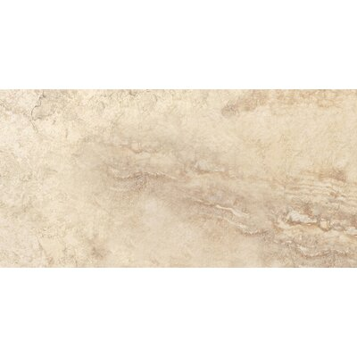 "Epoch Architectural Surfaces 12"" x 24"" Porcelain Field Tile in Beige Travertine"