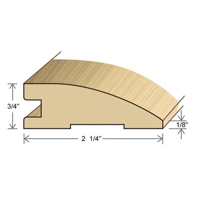 "Moldings Online 0.75"" x 2.26"" Solid Hardwood Honduran Pine Reducer in Unfinished"