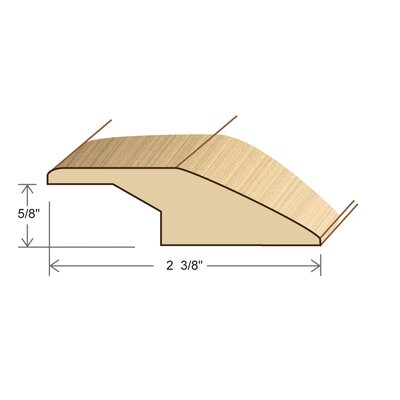 "Moldings Online 78"" Solid Hardwood Unfinished Merbau Square Nose for 9/16, 5/8"" Floors"
