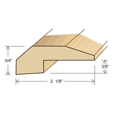"Moldings Online 0.34"" x 2.13"" Solid Hardwood White Oak Threshold in Unfinished"