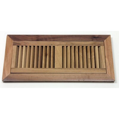 "Moldings Online 2"" x 14"" x 3/4"" Flush Mount Walnut Wood Vent in Natural"
