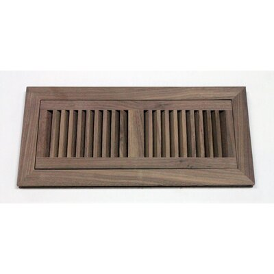 "Moldings Online 5-3/4"" x 12-1/4"" Walnut Flush Mount Wood Vent"