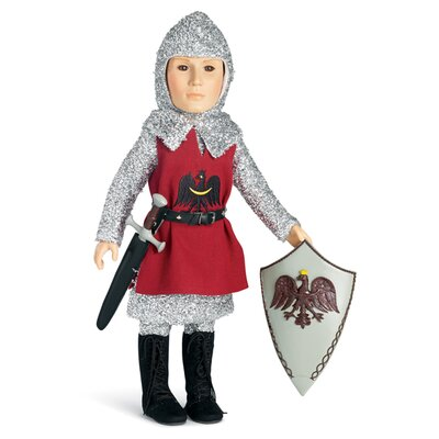 Carpatina Knight Outfit with Tunic, Tights, Shirt, Boots for 18&quot; Slim Boy Dolls