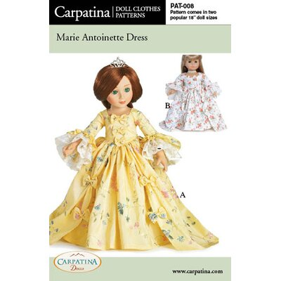 Carpatina Clothes Pattern Doll Marie Antoinette Dress