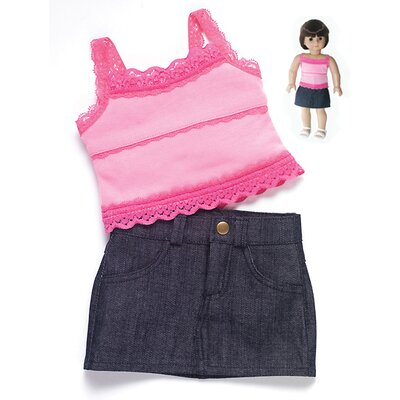 Carpatina American Girl Dolls Rendezvous Outfit with Skirt and Tank Top