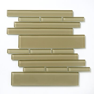 "Solistone Piano 10 1/2"" x 9 1/2 Interlocking Mesh Glass Tile in Sonata"