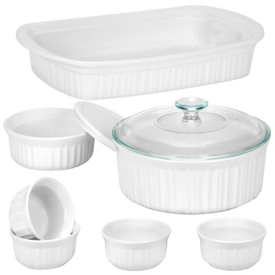 French White 9 Piece Bakeware Set