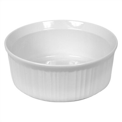 French White 2.5 Qt. Round Dish