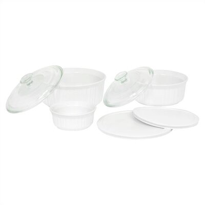 French White 7 Piece Bake and Serve Set