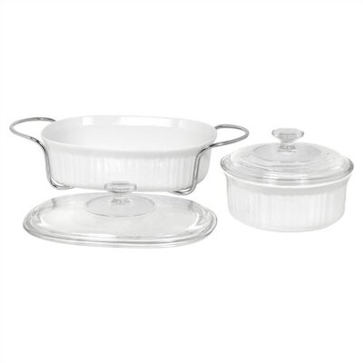 French White 5 Piece Bake and Serve Set