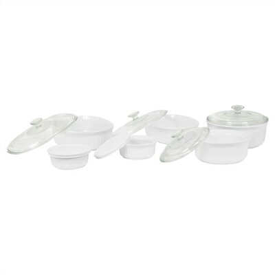 French White 12 Piece Bake and Serve Set