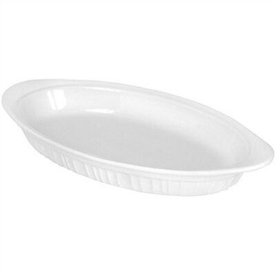 French White 42 oz. Au Gratin Dish