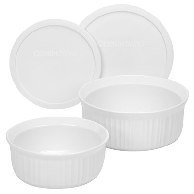 French White 4 Piece Bakeware Set