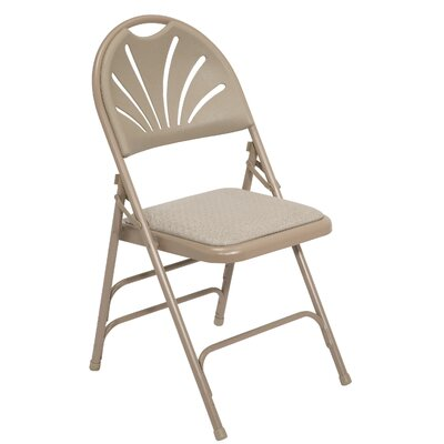 National Public Seating 1000 Series Triple Brace, Fan Back Padded Folding Chair
