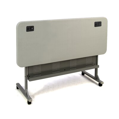 National Public Seating Commercialine Blow Molded Flip N Store Table