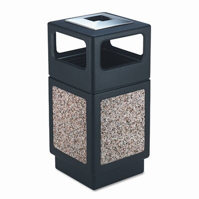 Safco Products Company Canmeleon Series Outdoor Aggregate Panel Side Opening Receptacle with Urn (Large)